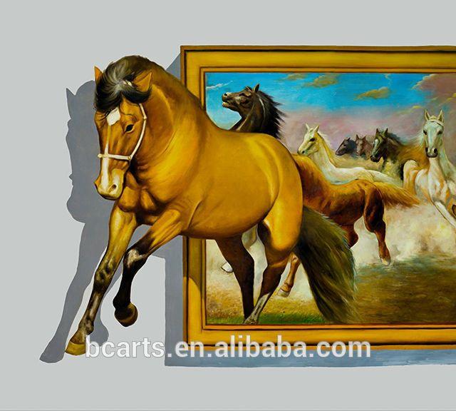 High Quality 3d Animal Photos Running Horse Printing Art 3d Wall Art Canvas Painting Horse Canvas Painting 3d Wall Painting Painting