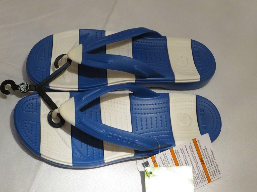 a11943b2f Beach Line Crocs sea blue unisex RARE M9 W11 relaxed fit Flip flops Mens  Women s  crocs  flipflops