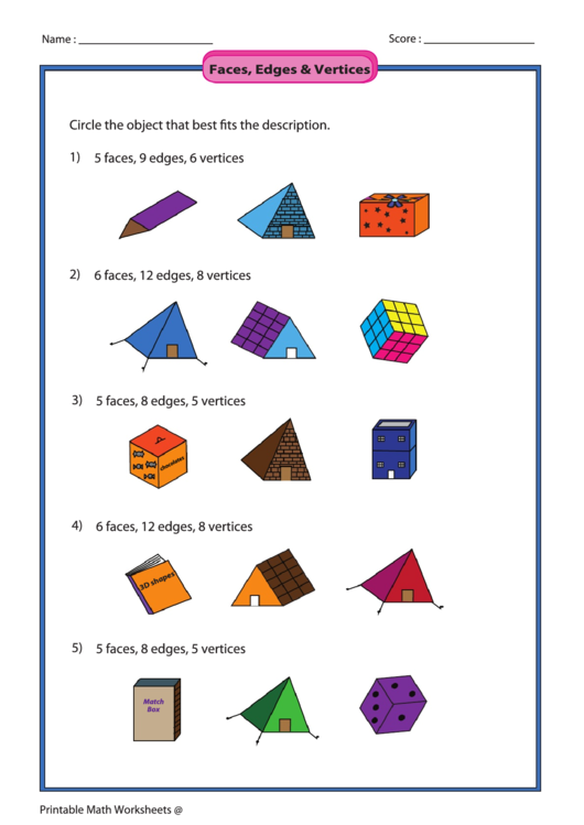 Need A Faces Edges And Vertices Math Worksheet Here 39 S A
