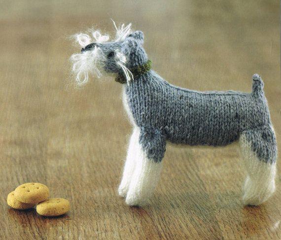 Amigurumi Knitting Pattern Miniature Schnauzer Dog Toy ...