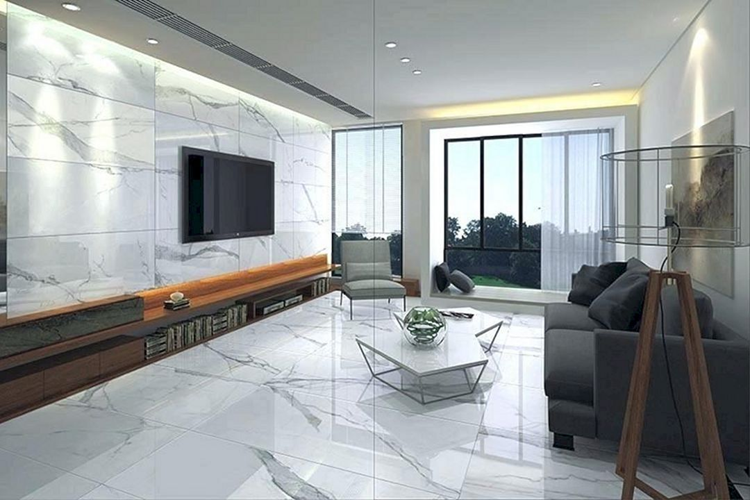 12 Top Living Room Marble Floor Ideas For More Enchanting White