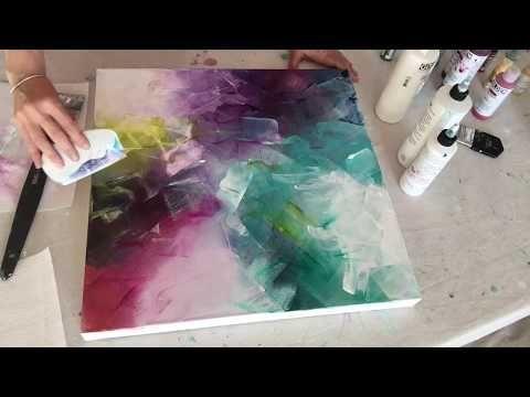 Abstrakte Acrylmalerei Lineare Figuren Youtube Pintura