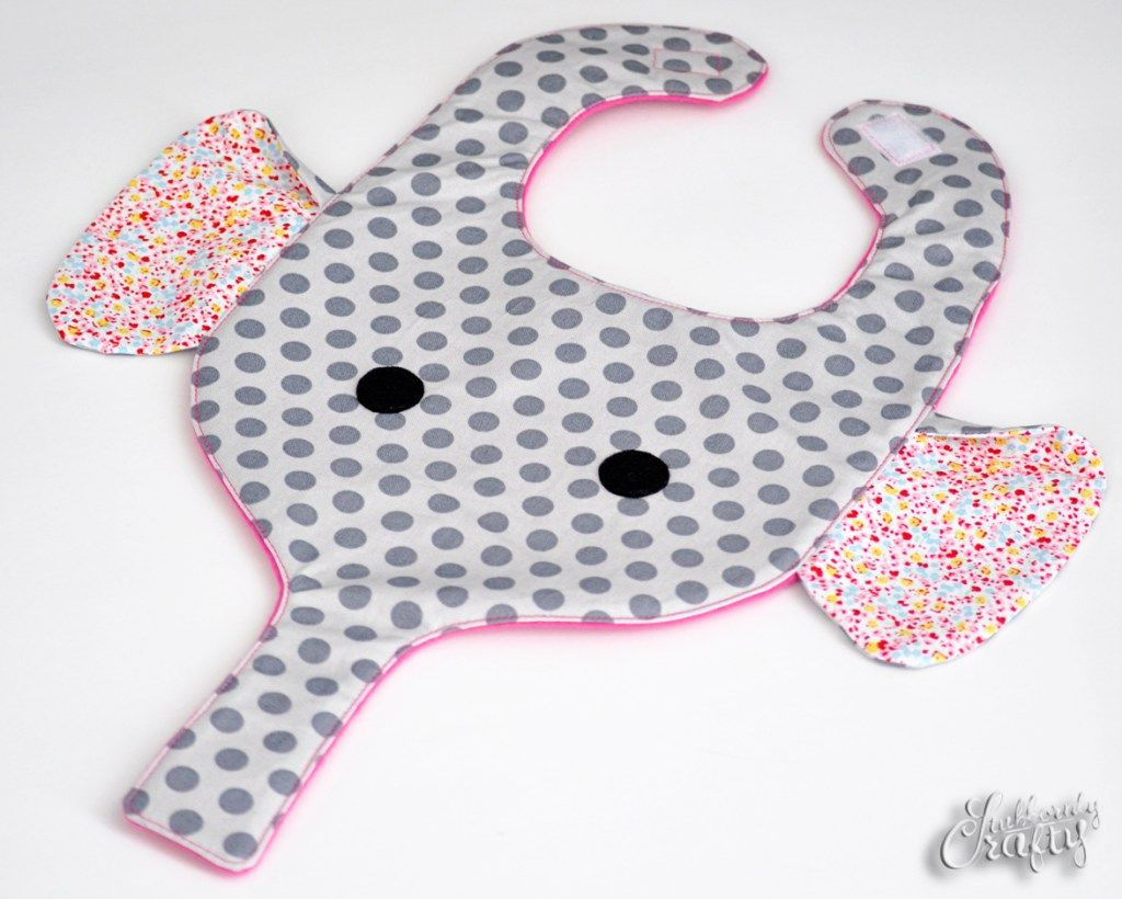 Elephant Bib & Binkie Holder Pattern/Tutorial by Stubbornly Crafty ...
