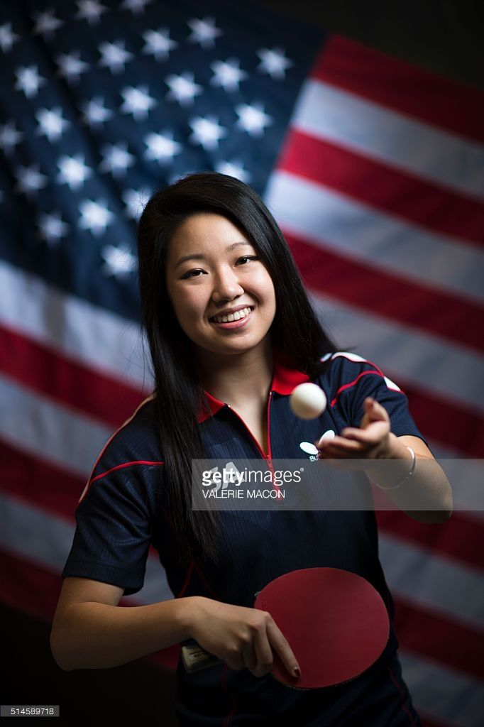 Table Tennis Player Lily Zhang Poses For A Portrait At The 2016 Team Picture Id514589718 682 1024 Table Tennis Player Tennis Photography Team Pictures