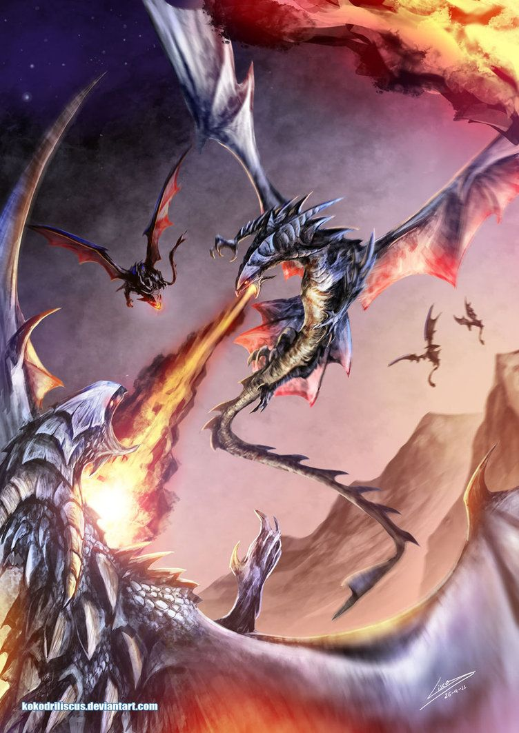 Aerial Struggle by Dragolisco on DeviantArt