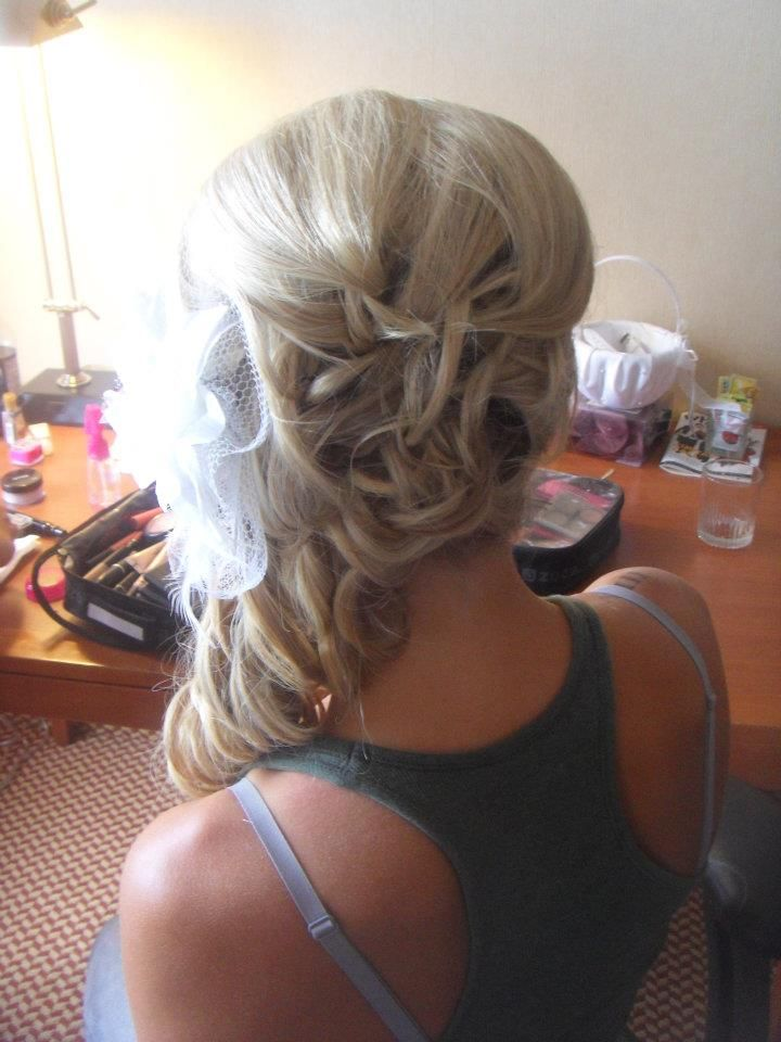 wedding hair,,really considering the side curls   Ever After ...