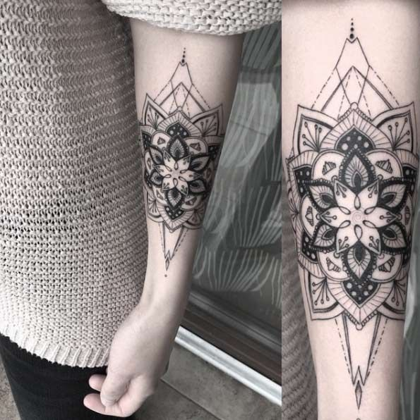 200 Mystical Mandala Tattoos Meanings Ultimate Guide 2020 Cool Forearm Tattoos Forearm Tattoo Design Mandala Tattoo Meaning