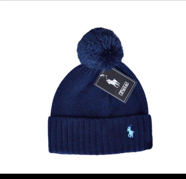 5247a78fb POLO Ralph Lauren Men's Blue Pony Cuffed Pom Beanie Hat One Size ...