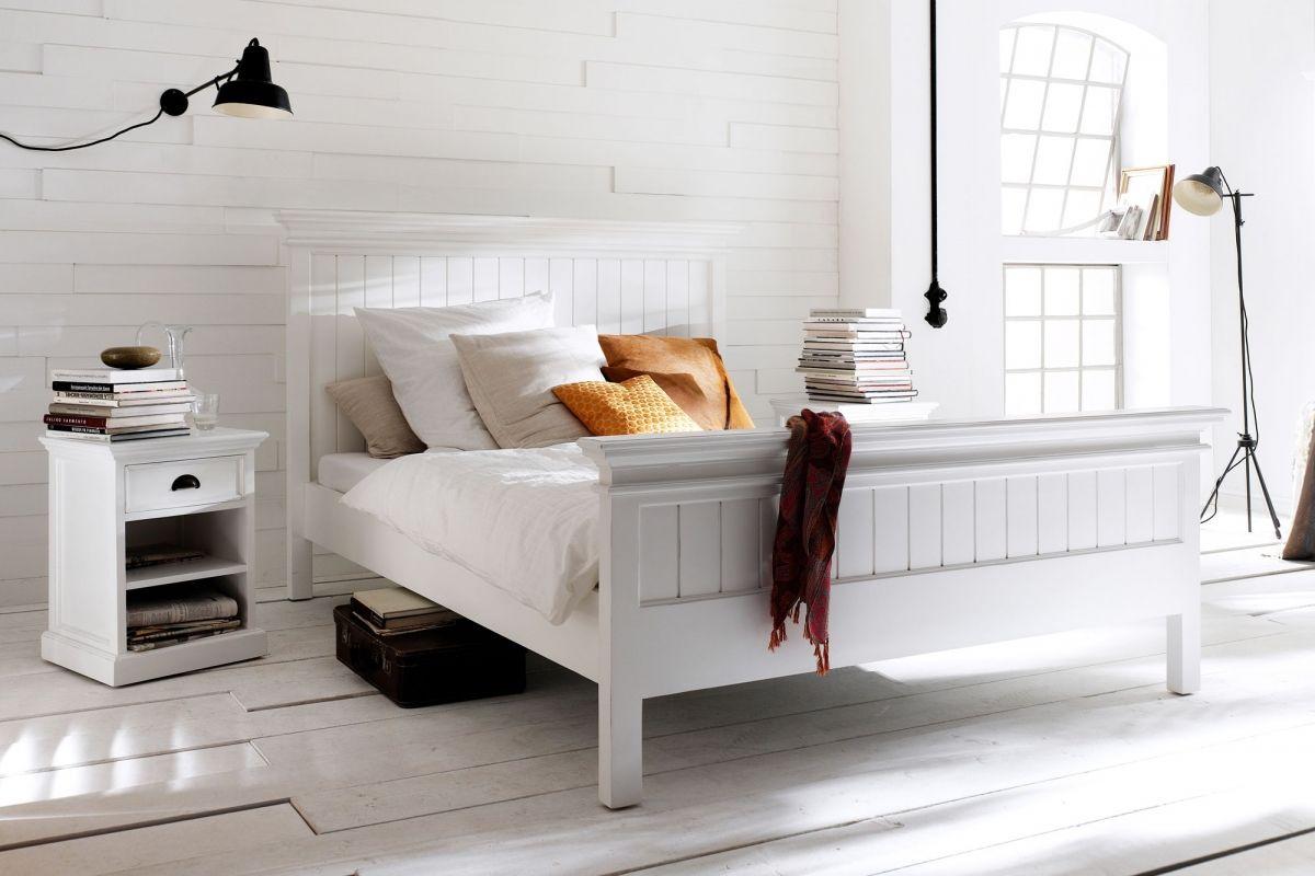 Bett Halifax weiß im Landhausstil 160x200 - Möbel Online Shop ...