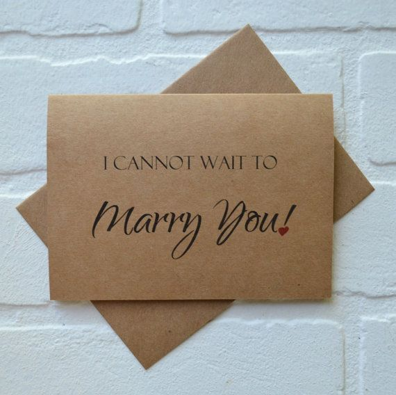 I Cannot Wait To Marry You Wedding Day Card To My Husband To My Wife