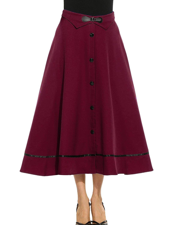 Vintage 1940s Classic A-Line High Waisted Skirt 40s PLAID MAXI Skirt