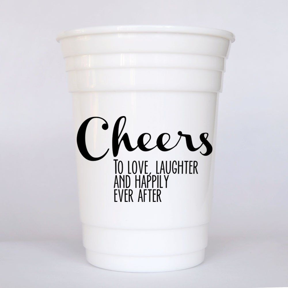 Cheers to love, laughter and happily ever after   Party gifts ...