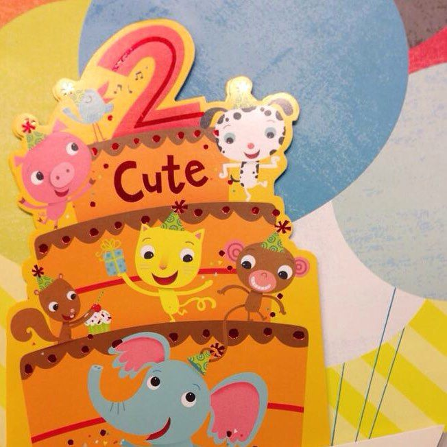 Celebrate a second birthday with this cute card – Second Birthday Cards