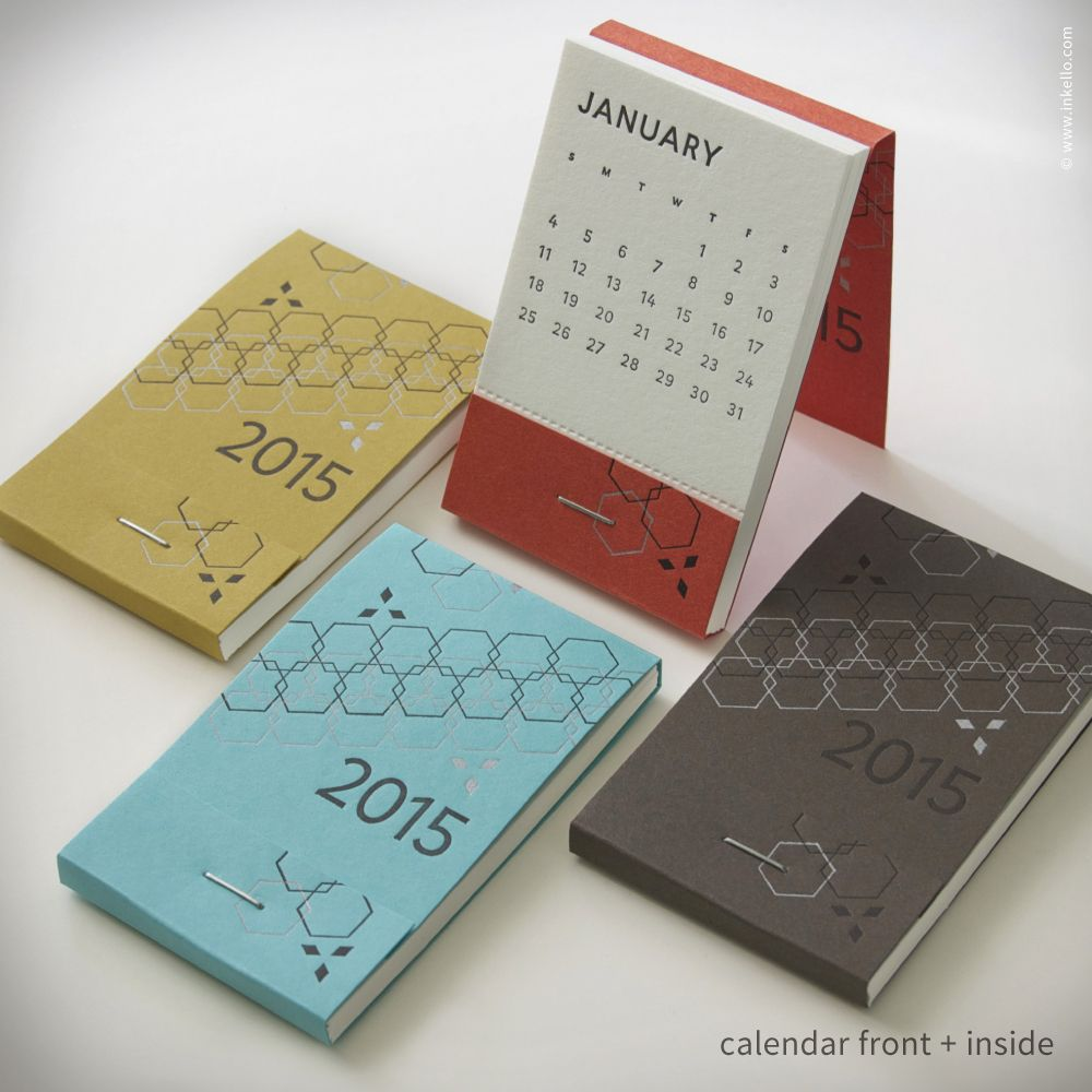 Pocket Calendar Design : Matchbook calendar™ letterpresses calendar