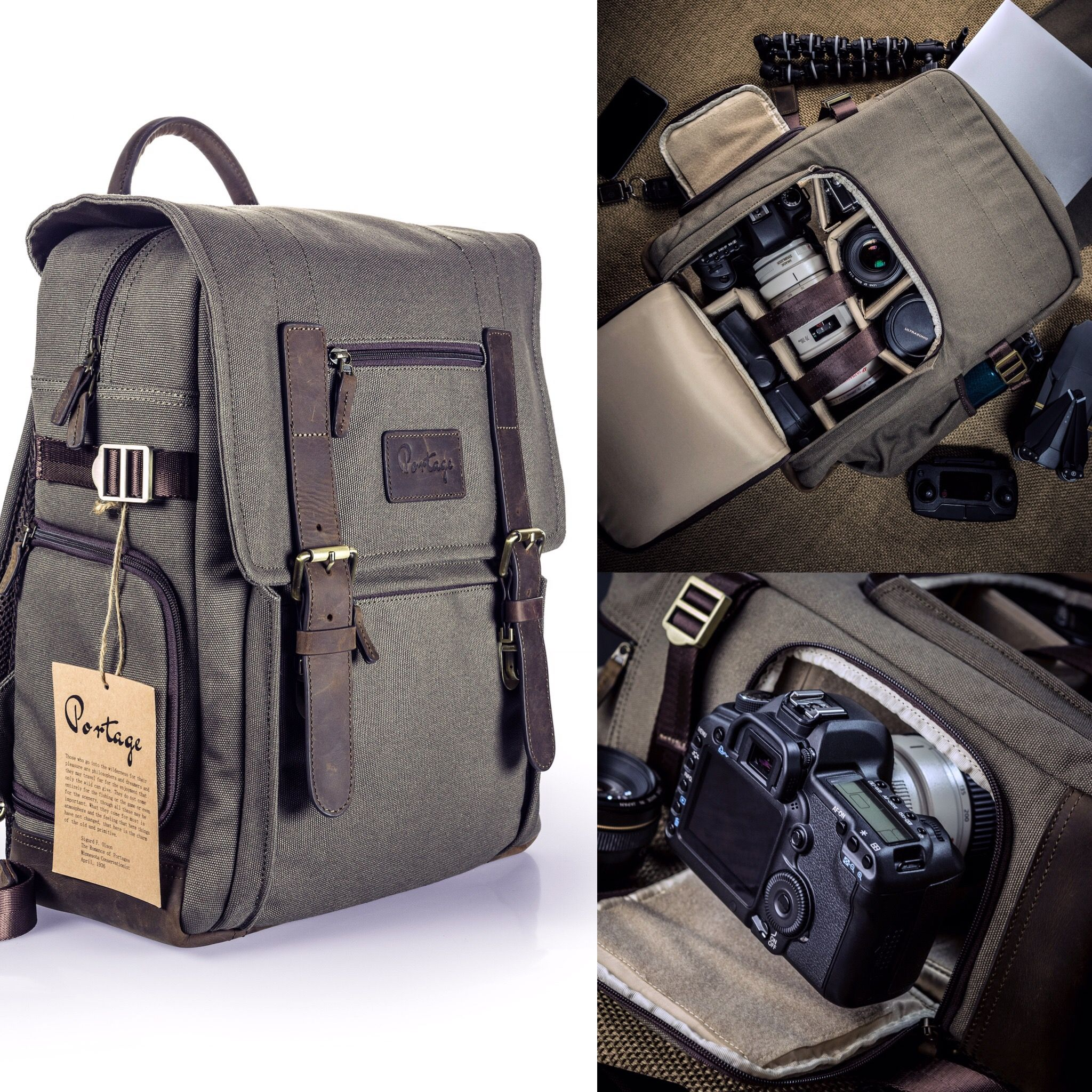 0b94165bff3d Kenora Camera Backpack (GEN3 with Side Access!) Carry your camera gear