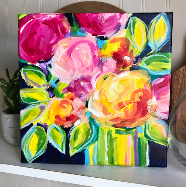 Loose Abstract Flowers - Daily Painting - August 12, 2019 — Elle Byers Art