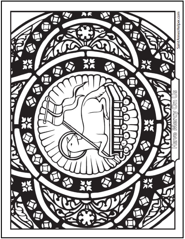 catholic easter coloring pages free - photo#11