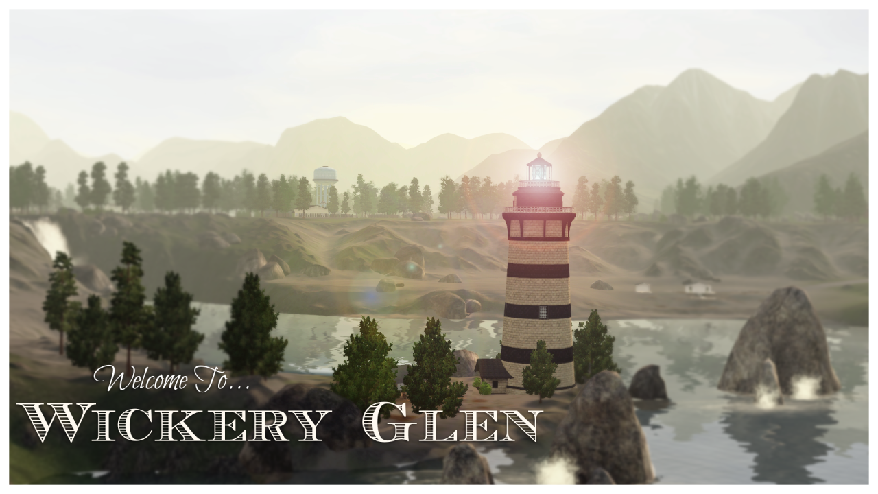 "Wickery Glen (a Moonlight Falls makeover) ""Bordered by"
