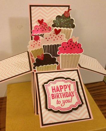 Carte happy birthday box faire soi m me cartes d 39 anniversaire originales pinterest - Carte anniversaire a faire soi meme ...