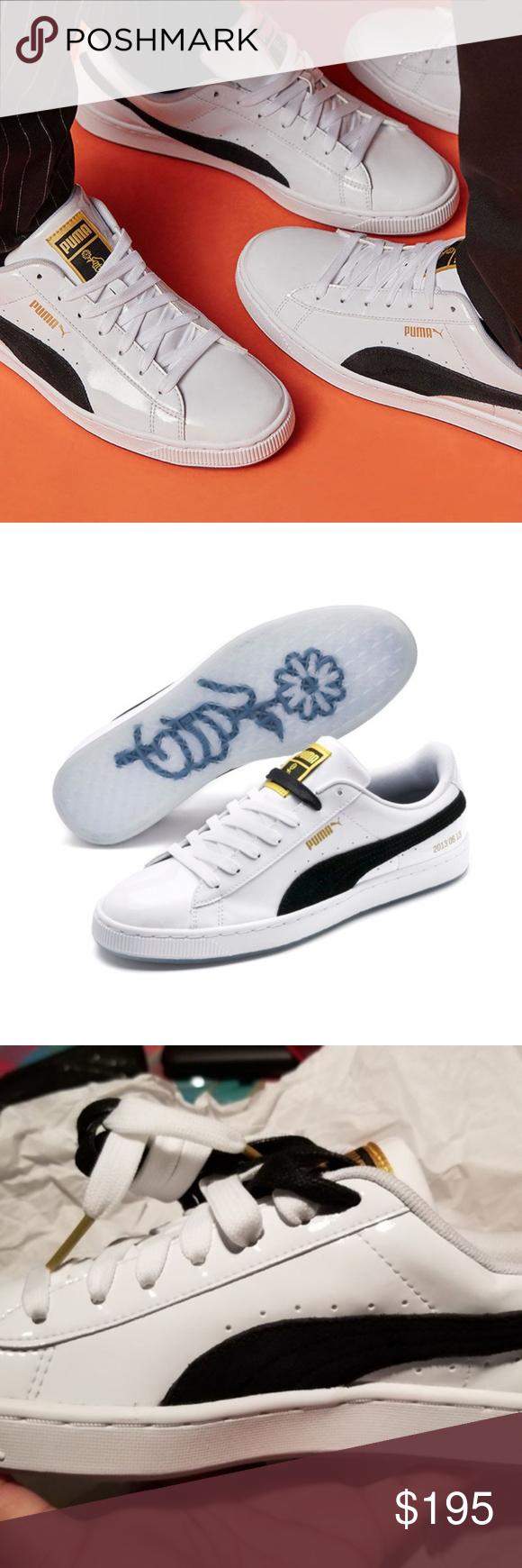 buy online 19ad7 b6fed PUMA x BTS Basket Patent Sneakers PHOTOMIX PUMA x BTS Basket ...