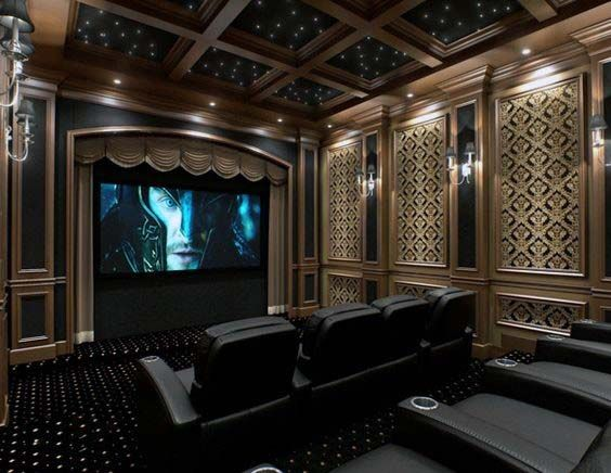 80 Home Theater Design Ideas For Men Movie Room Retreats Home Theater Decor Home Theater Setup Home Theater