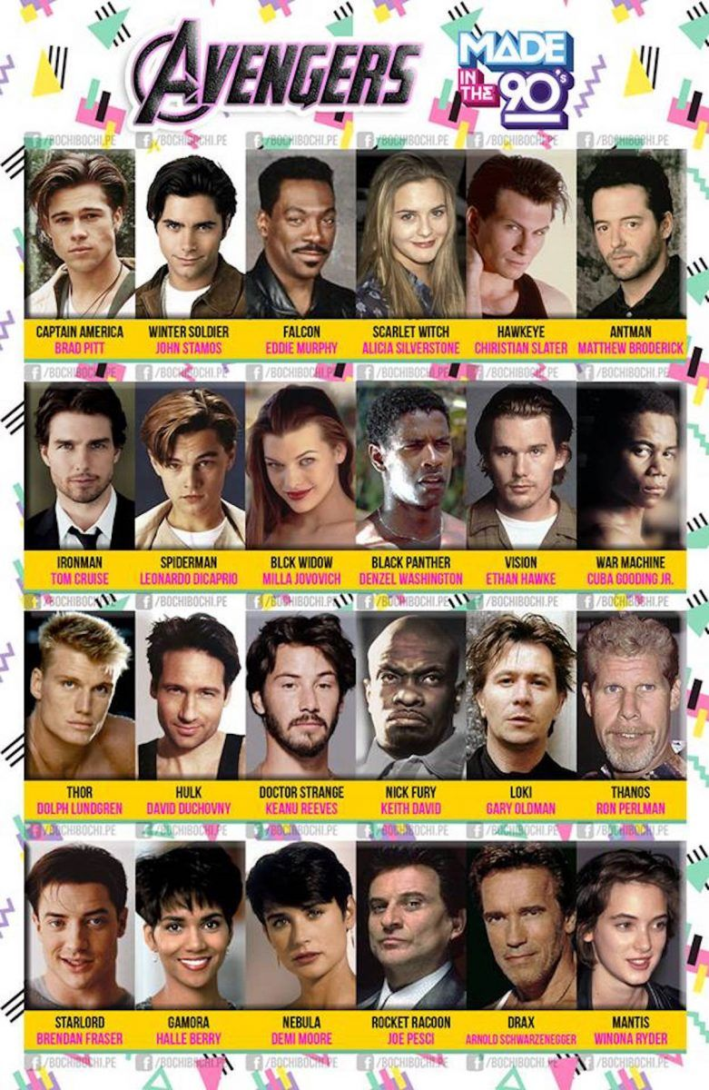 The Avengers Cast in the '90s Is Perfect   The Mary Sue