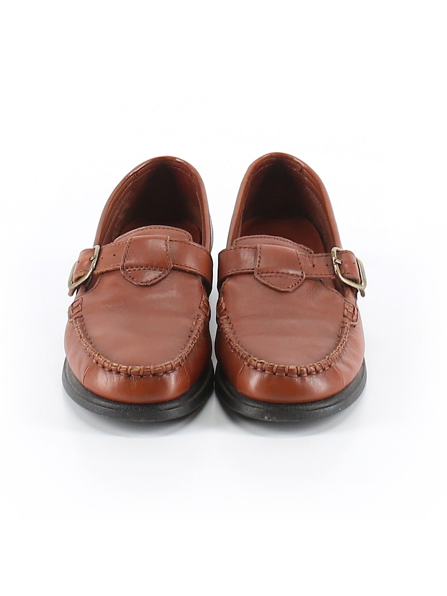 Hush Puppies Flat Brown Solid Women S Shoes Size 6 1 2 Clearance Shoes Shoes Boat Shoes