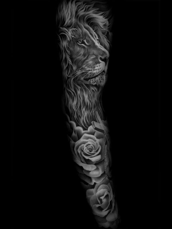 aaba02a05df5d Black And Grey Tattoos Sleeve · Tattoo artwork by Jun Cha. Badass Tattoos,  Great Tattoos, Tattoos For Guys,