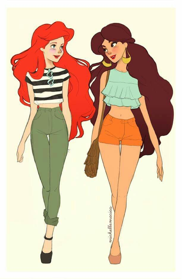 disney drawings Hipster princesses