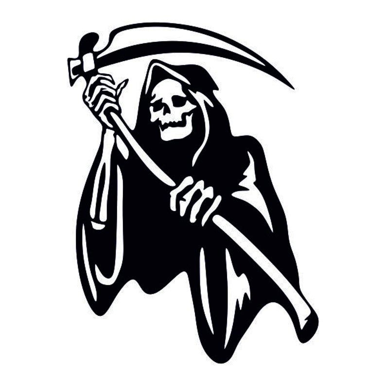 Grim Reaper Cuttable Design Png Dxf Svg Eps File For Etsy In 2020 Grim Reaper Grim Reaper Drawing Reaper Drawing