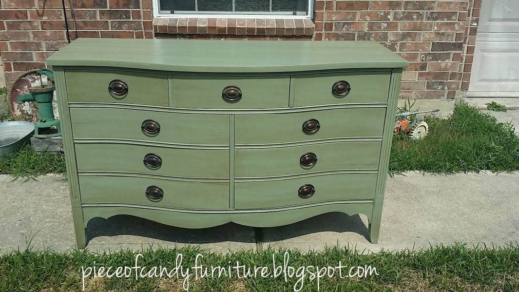 Piece Of Candy Furniture Duncan Phyfe Dresser Painted and Glazed