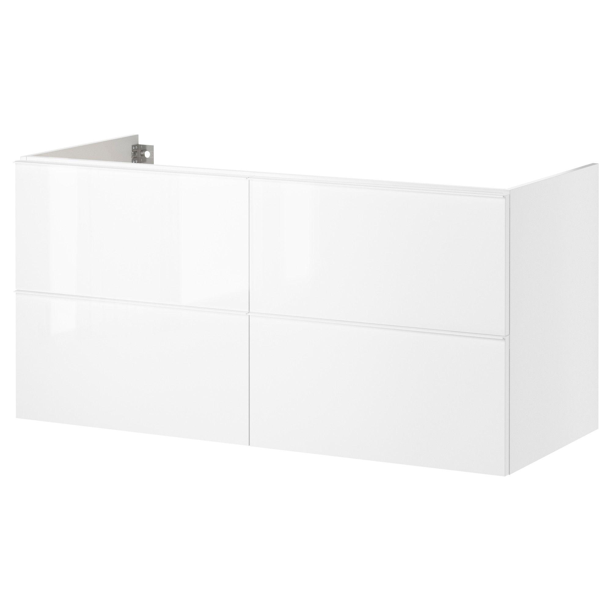 Godmorgon armario lavabo 4cajones alto brillo blanco - Armario lavabo ikea ...