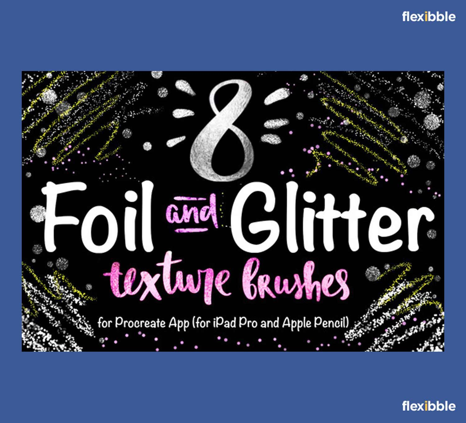 8+ Free Foil & Glitter Procreate Brushes | Procreate | Photoshop
