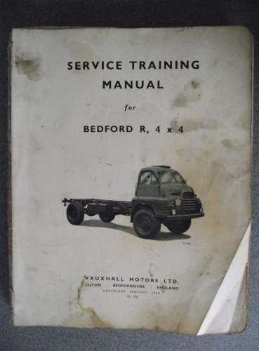 Bedford R, 4x4 Service Training Manual 1965 TS735 Bedford Town - training manual