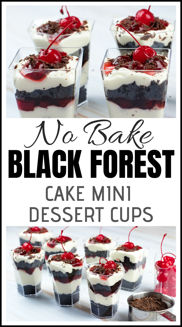 DLux Mini Dessert Cups Black Forest Cake