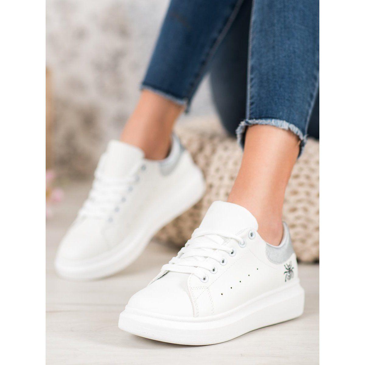 Kylie Modne Buty Sportowe Biale Shoes Sneakers Converse Sneaker