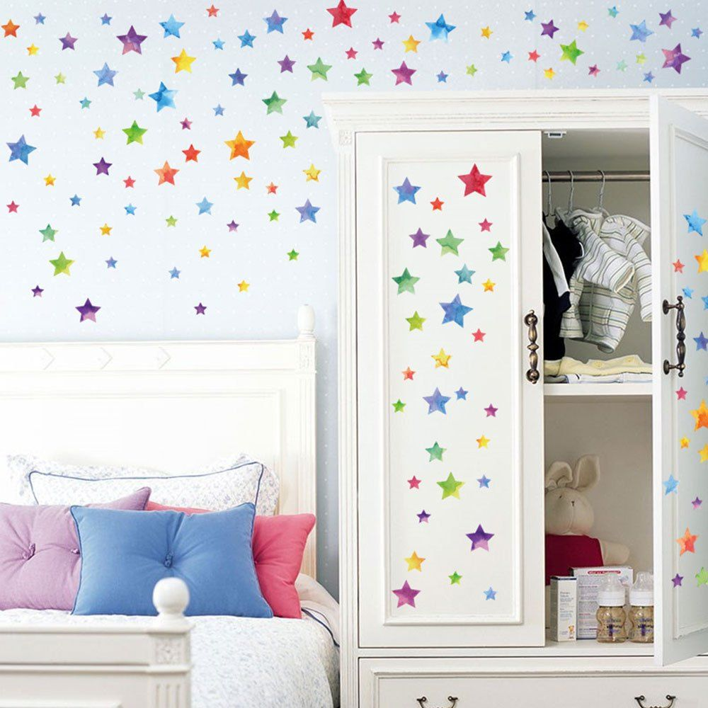Toile De Verre Salle De Bain Colorful Star Kids Room Diy Wall Decor Sticker Kid Friendly