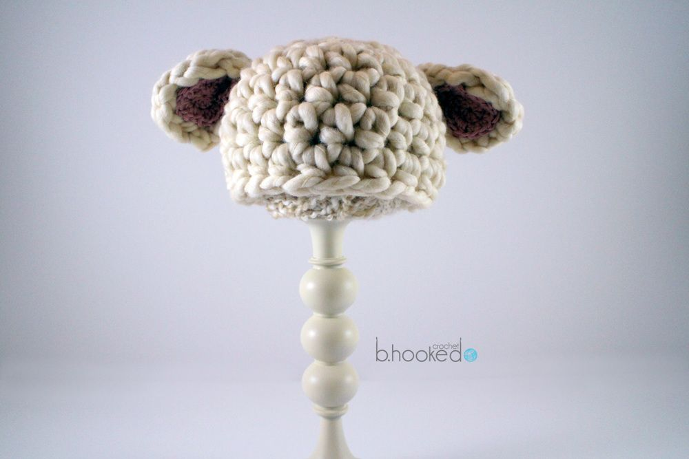 Baby Lamb Crochet Hat | Pinterest | Gorros, Ganchillo y Puntos