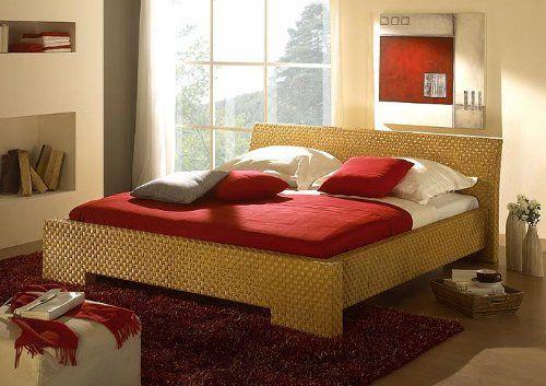 Schlafzimmer Rattan ~ Rattanbett cm leandra natur bett futonbett doppelbett