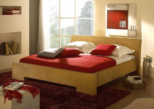 rattanbett 140x200 cm leandra natur bett futonbett. Black Bedroom Furniture Sets. Home Design Ideas