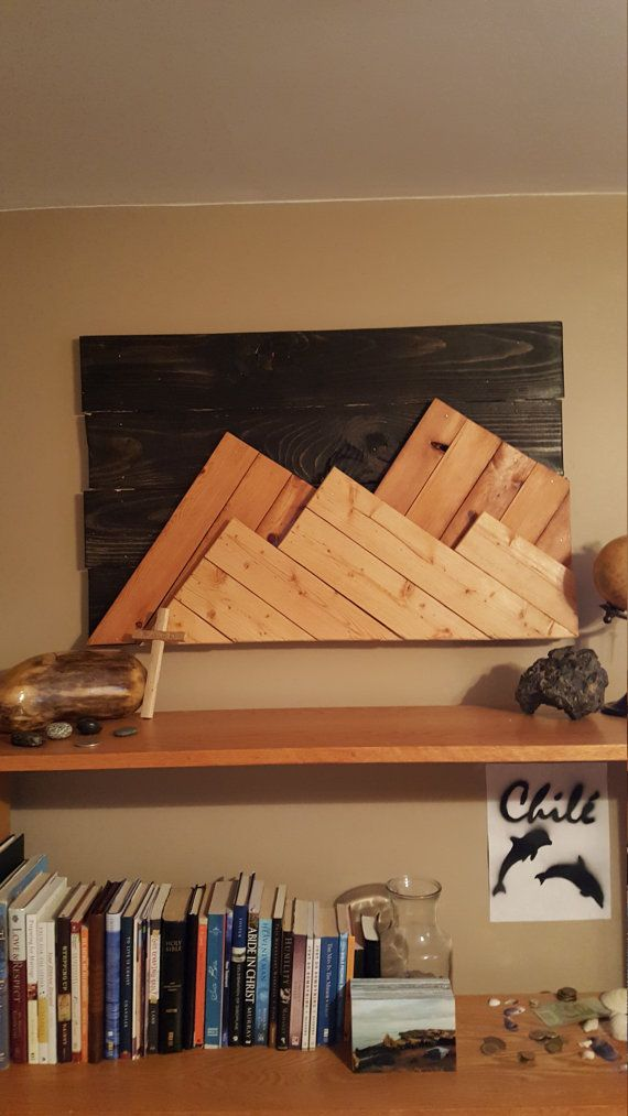 Wooden Mountain Range Wall Art by BrokenWarrior116