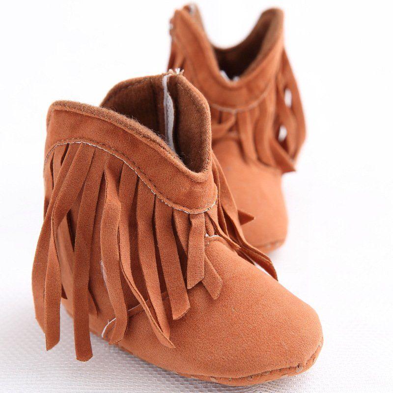 Baby Girl Moccasin Fringe Boots