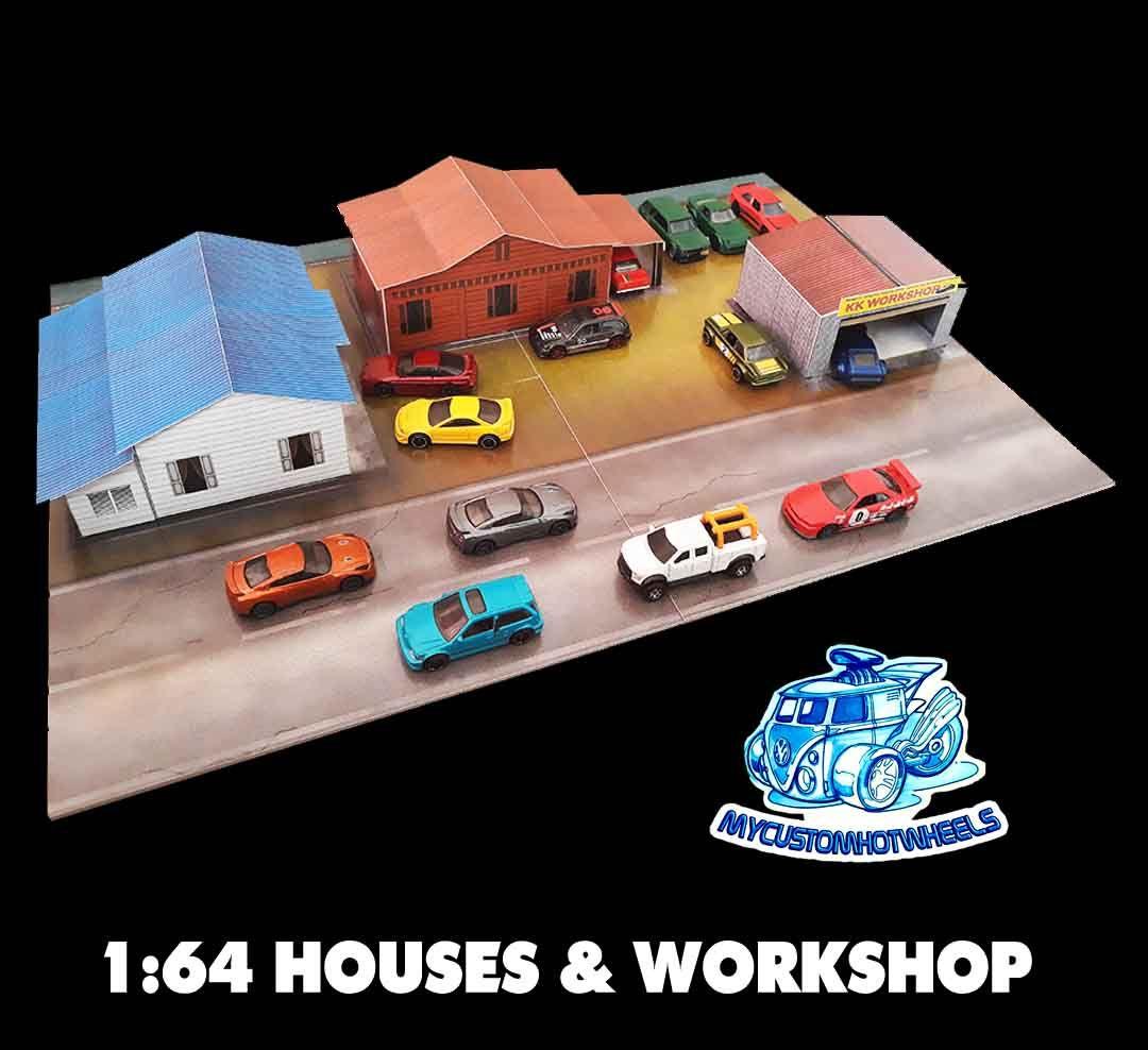 Houses Garages Workshops 1 64 Scale Diorama Kits For Hot Wheels Diorama Garage Workshop Custom Hot Wheels