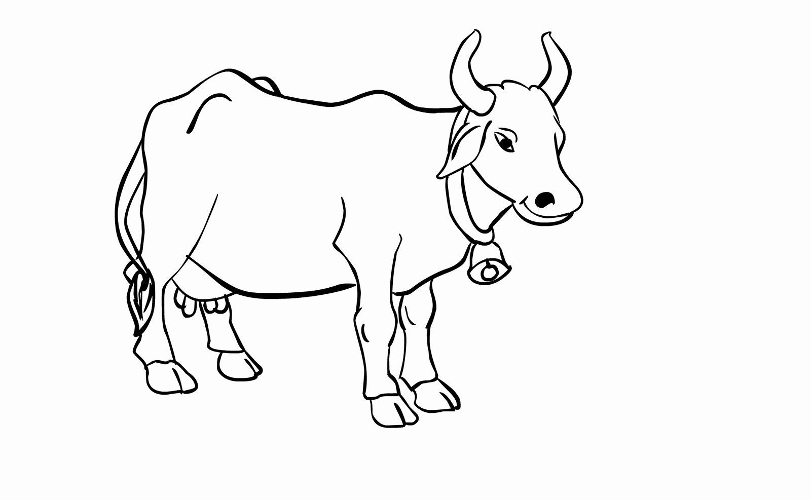 Coloring Books for Kids Beautiful Free Printable Cow ...
