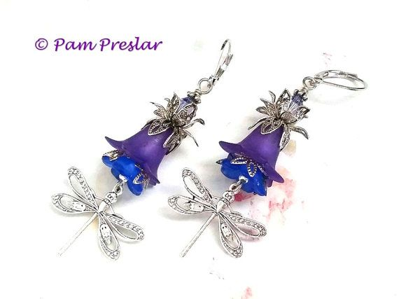 Make your own earrings kit silver purple floral dragonfly earring items similar to make your own earrings kit silver purple floral dragonfly earring kit vintage flower design do it yourself jewelry 001 s on etsy solutioingenieria Gallery
