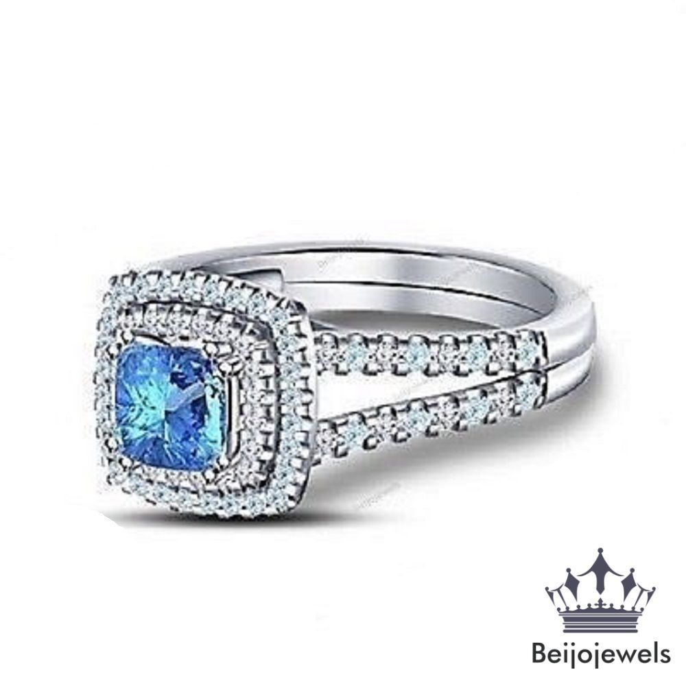 cinderella blue engagement topaz london ring jewelry rings fine enchanted and disney princess diamond