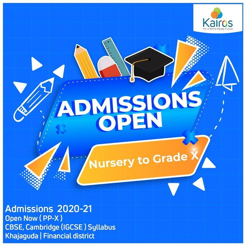 Admissions Open Now Kairos Internationalschool In 2020 School Admissions Admissions Dear Parents