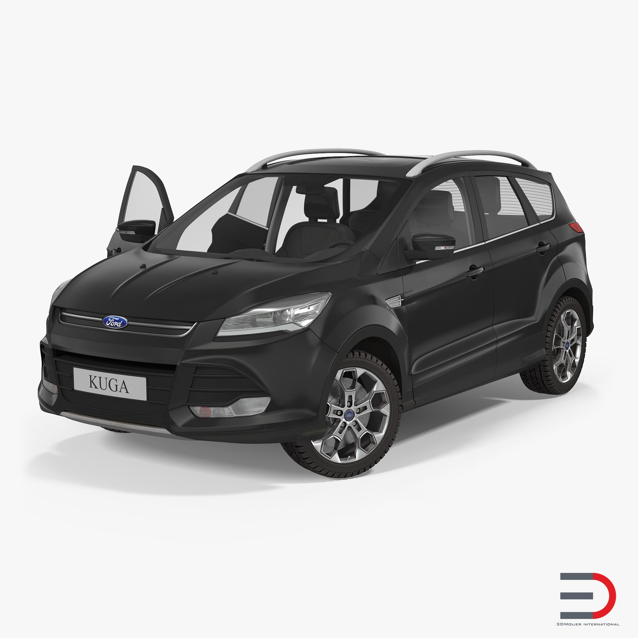 Ford Kuga Fwd 2016 3d Model Rigged Fwd Ford Kuga 3d Model
