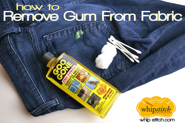 How To Remove Gum From Clothing Whipstitch Remove Gum From Clothes Gum How To Remove