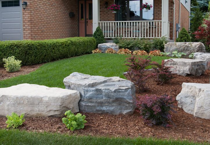 Tiered Front Gardens Using Armor Stone Google Search 400 x 300